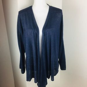 Nic and Zoe Linen Open Front Waterfall Cardigan